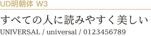 UD明朝体W3