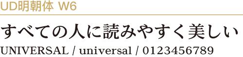UD明朝体W6