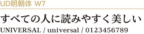 UD明朝体W7